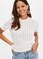 DeFacto Slim Fit Kısa Kollu T-shirt Beyaz